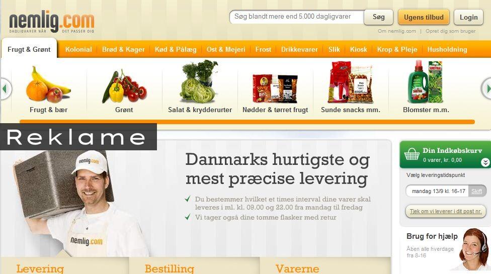 billige fødevarer på nettet