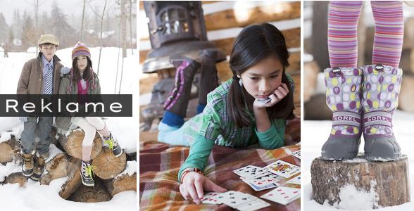 Sorel laver flotte outdoorstøvler både til drenge og piger. Prisen på 400 kroner er fair for et par støvler, der er parat til -32 grader. Foto: Pressefoto/Sorel/Montage:Shopblogger.dk