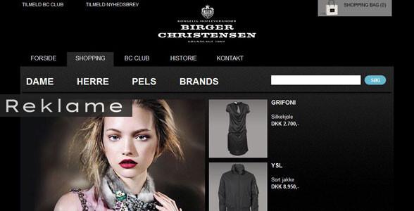 Luksusbutikken Birger Christensen i København har åbnet netbutik